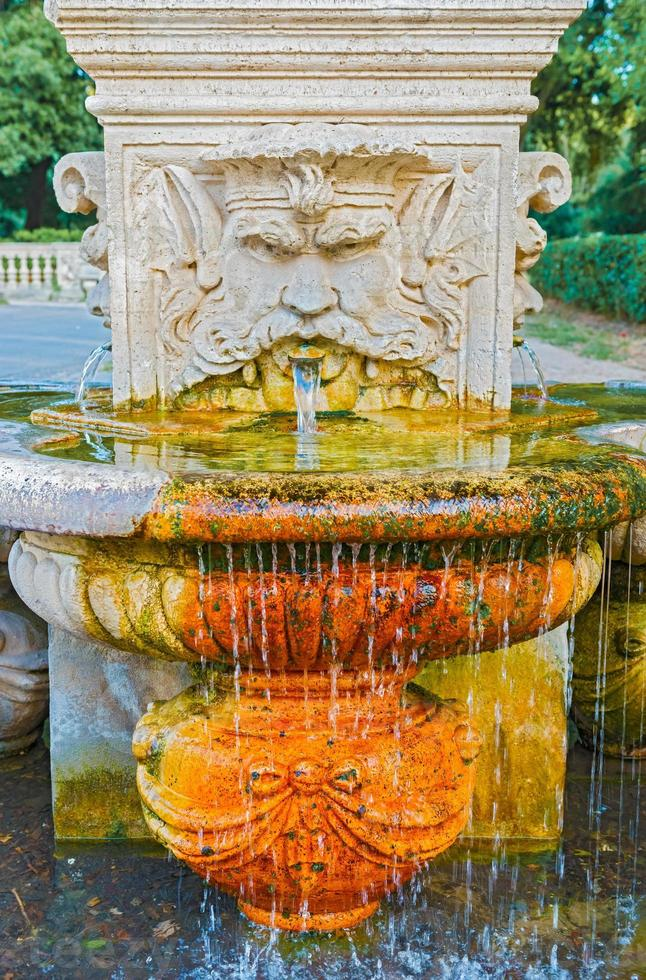 dricka fontän i Rom, Italien foto
