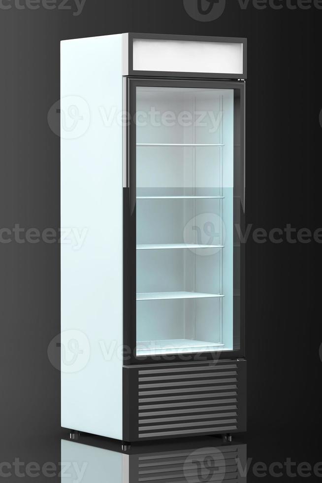kylskåp med glasdörr foto