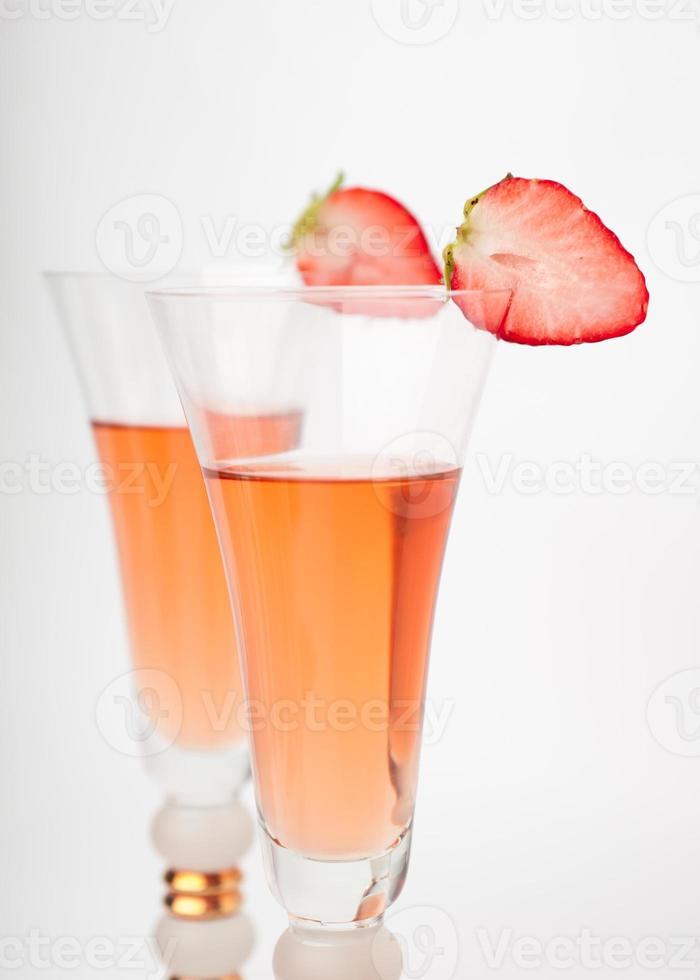 dryck med jordgubbar foto