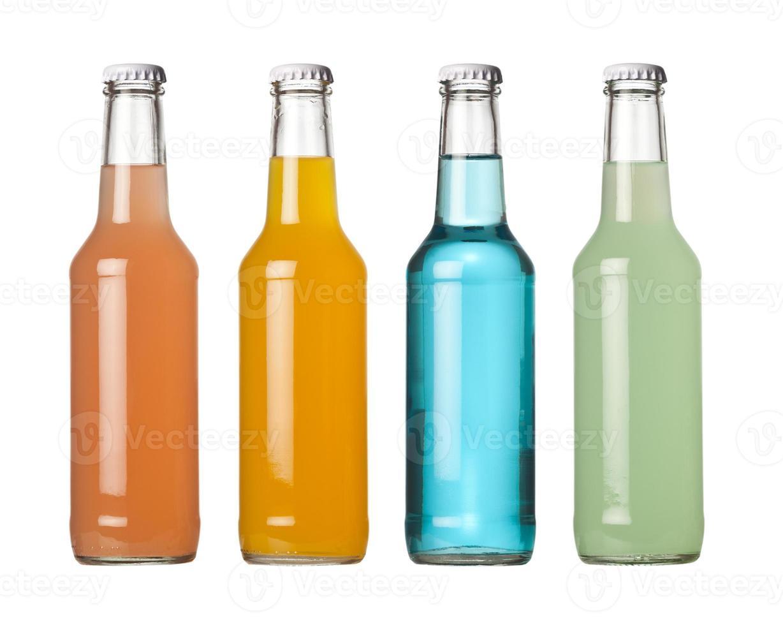 färgglada drycker på flaska foto