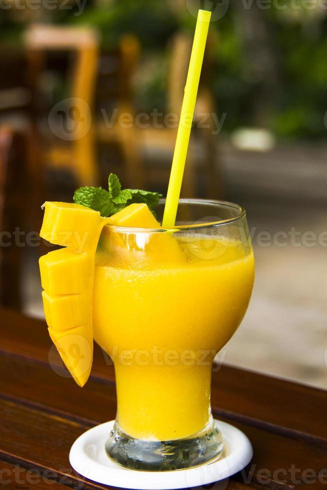 färsk mango juice - thai drink foto