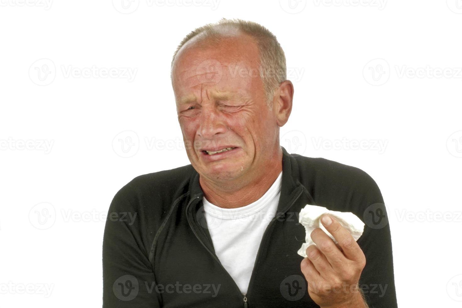 gråt sorglig man foto