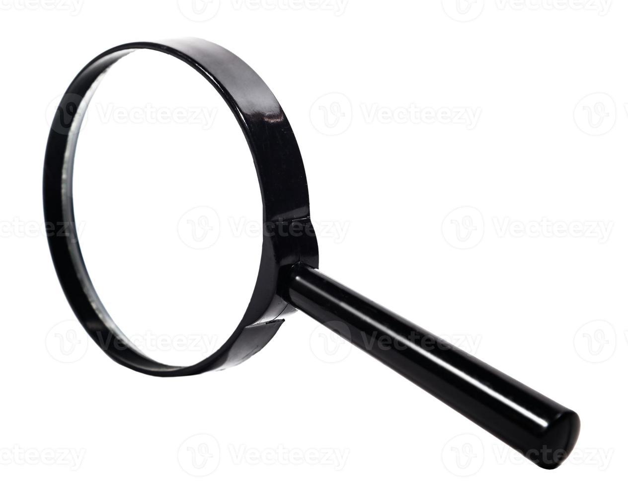 förstoringsglas närbild på isolerade foto