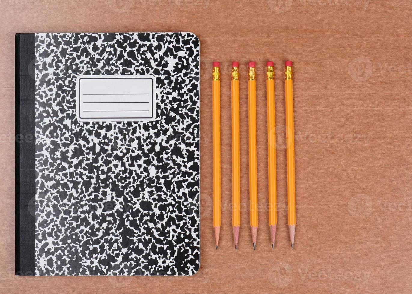 pennor och temabok foto