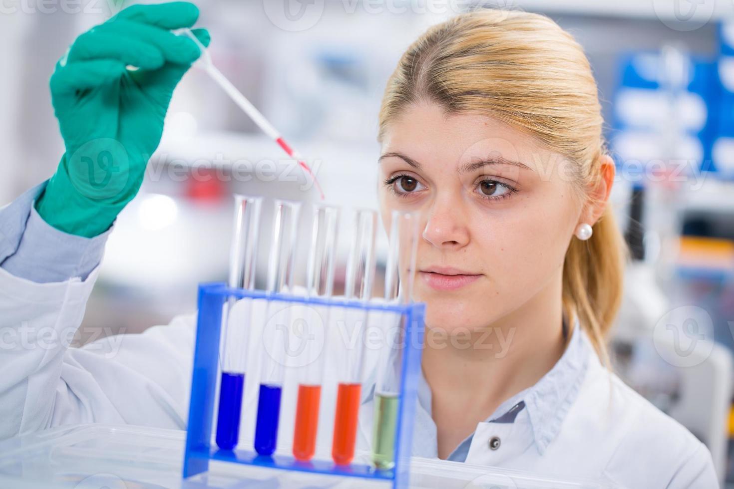 genetiskt laboratorium foto