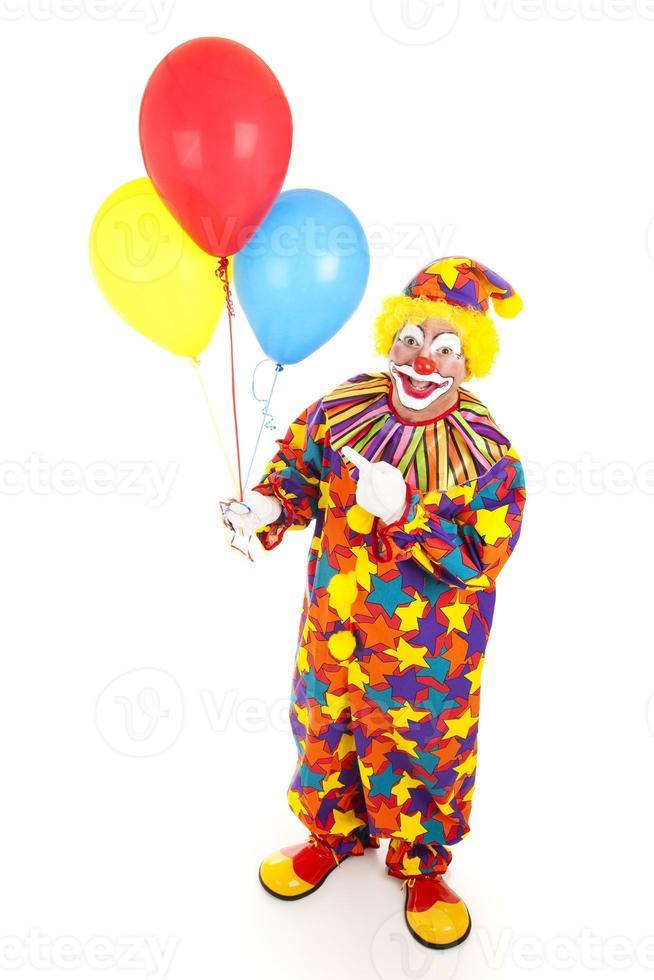 glad clown och ballonger foto