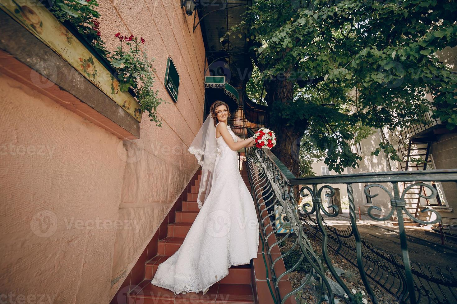 bröllopsdag vackra par foto