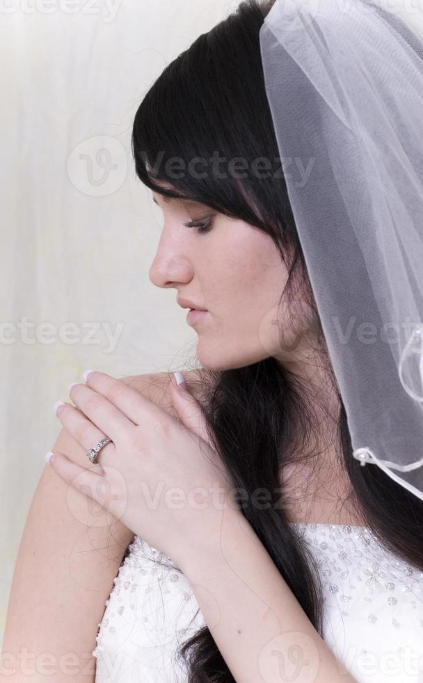 bruden på nära håll foto