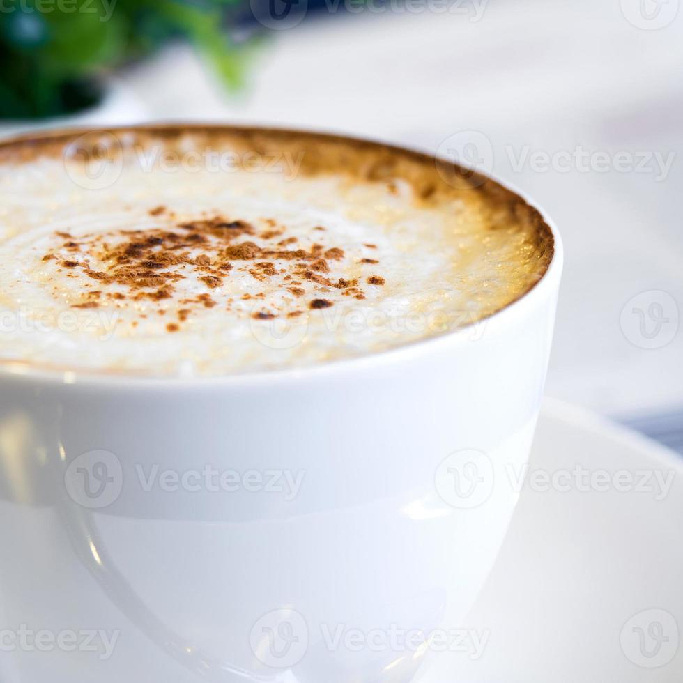 närbild cappuccinokaffe foto