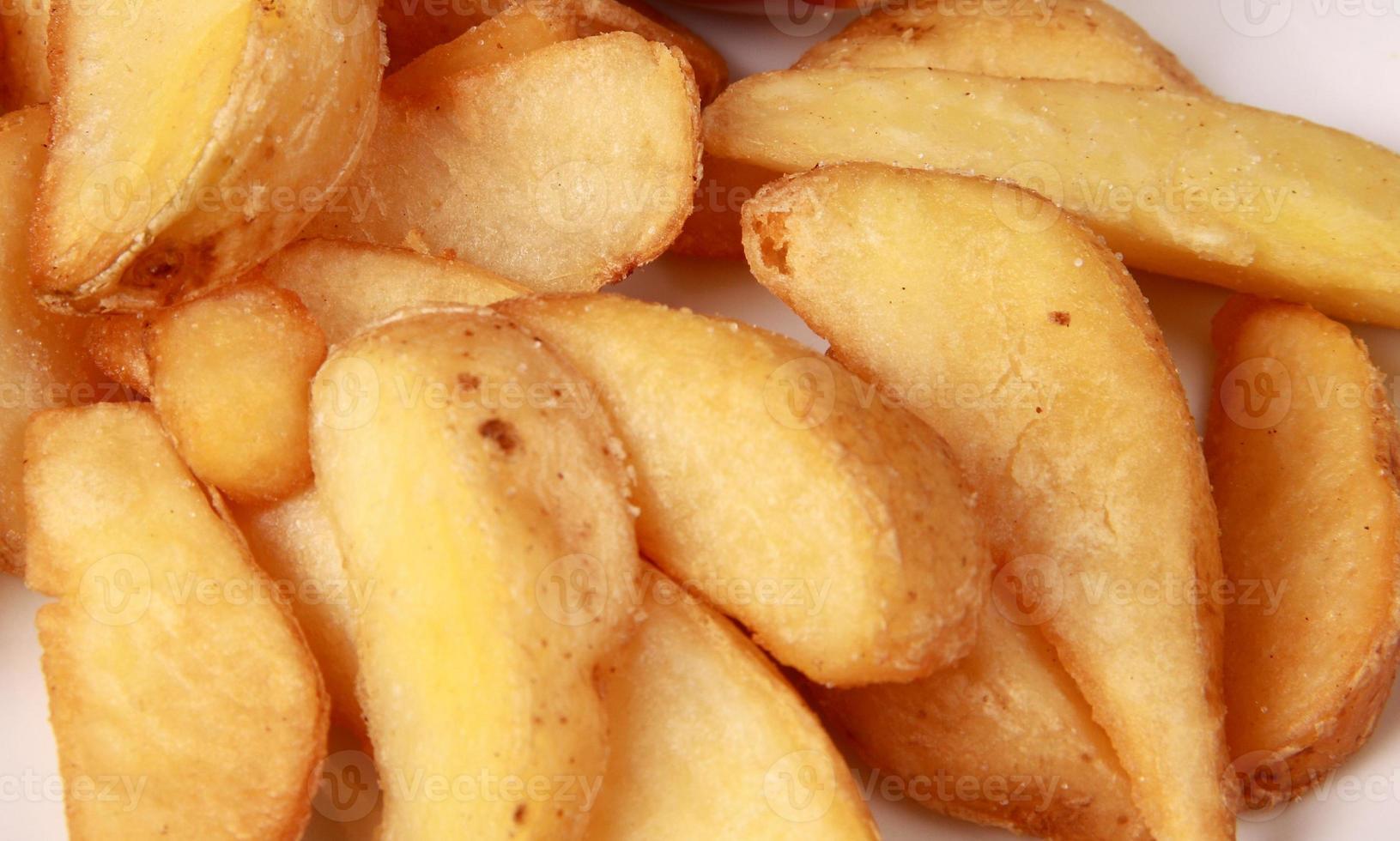 kokt potatis på nära håll foto