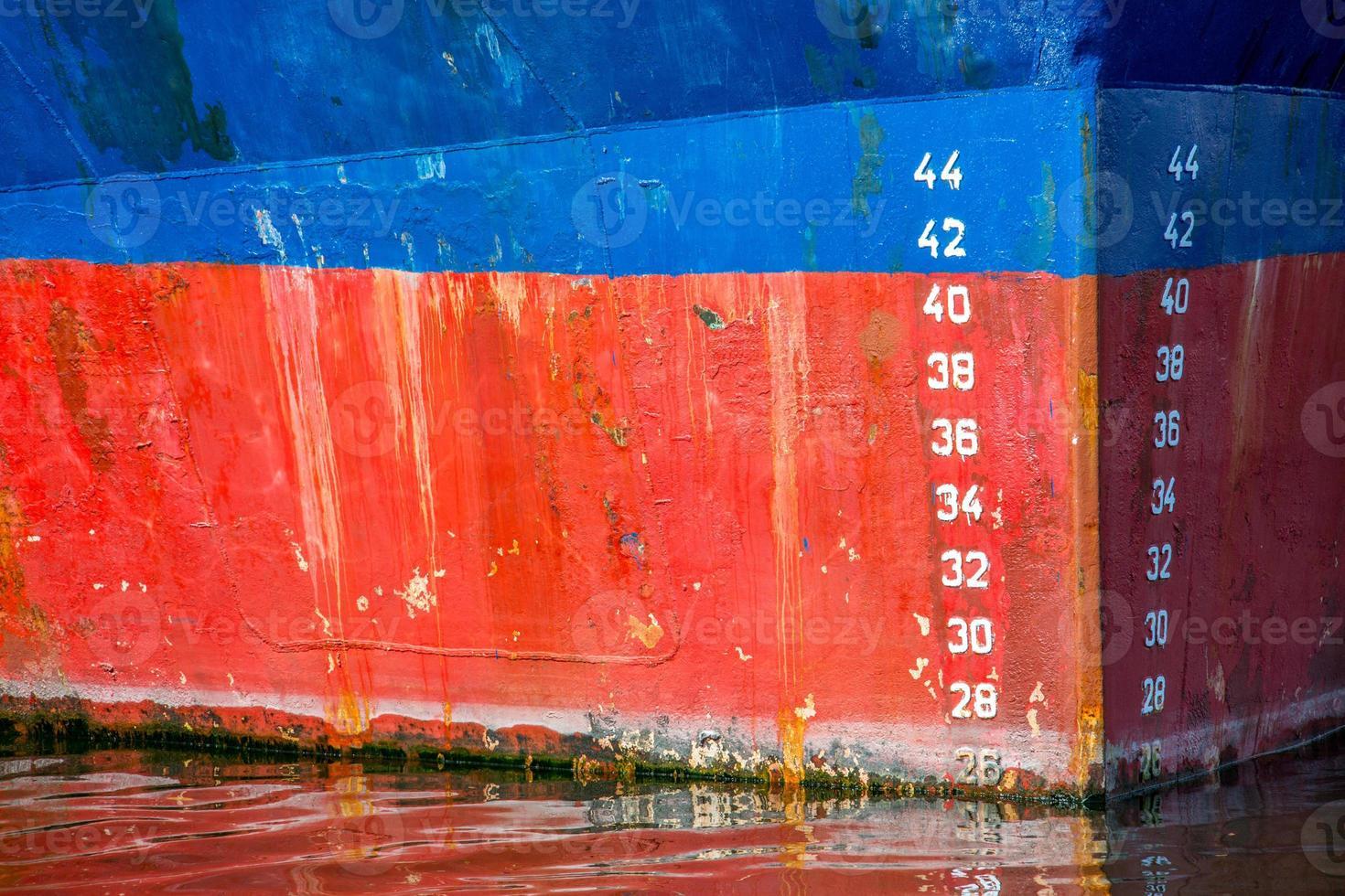 fartyg båge på nära håll foto