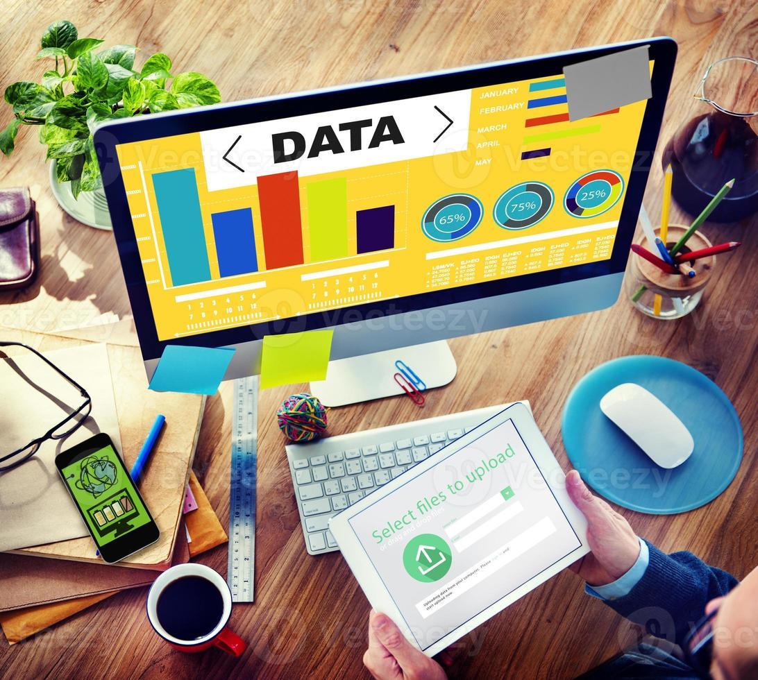 dataanalysdiagram prestandamönster statistikinformation foto