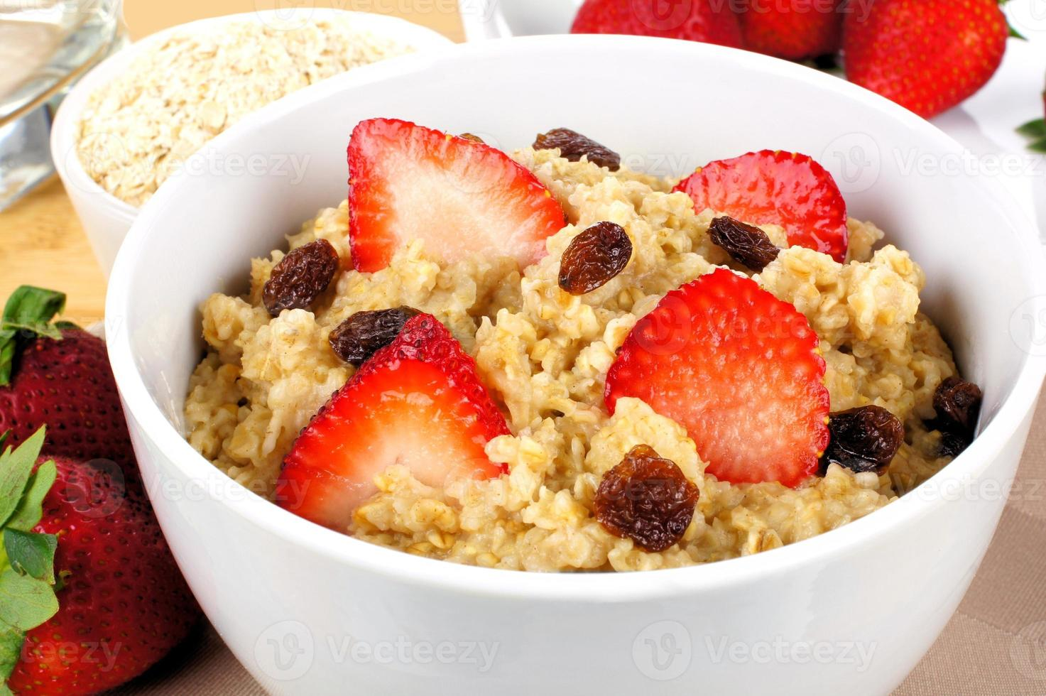 frukost havregryn närbild foto