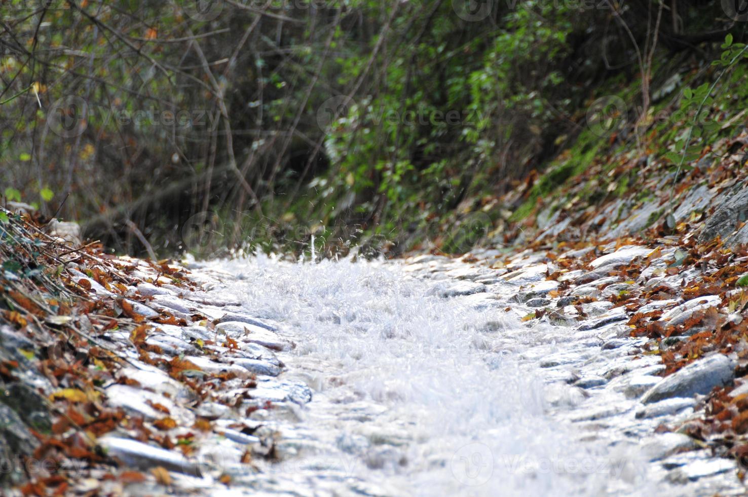 bergströmmen på nära håll foto