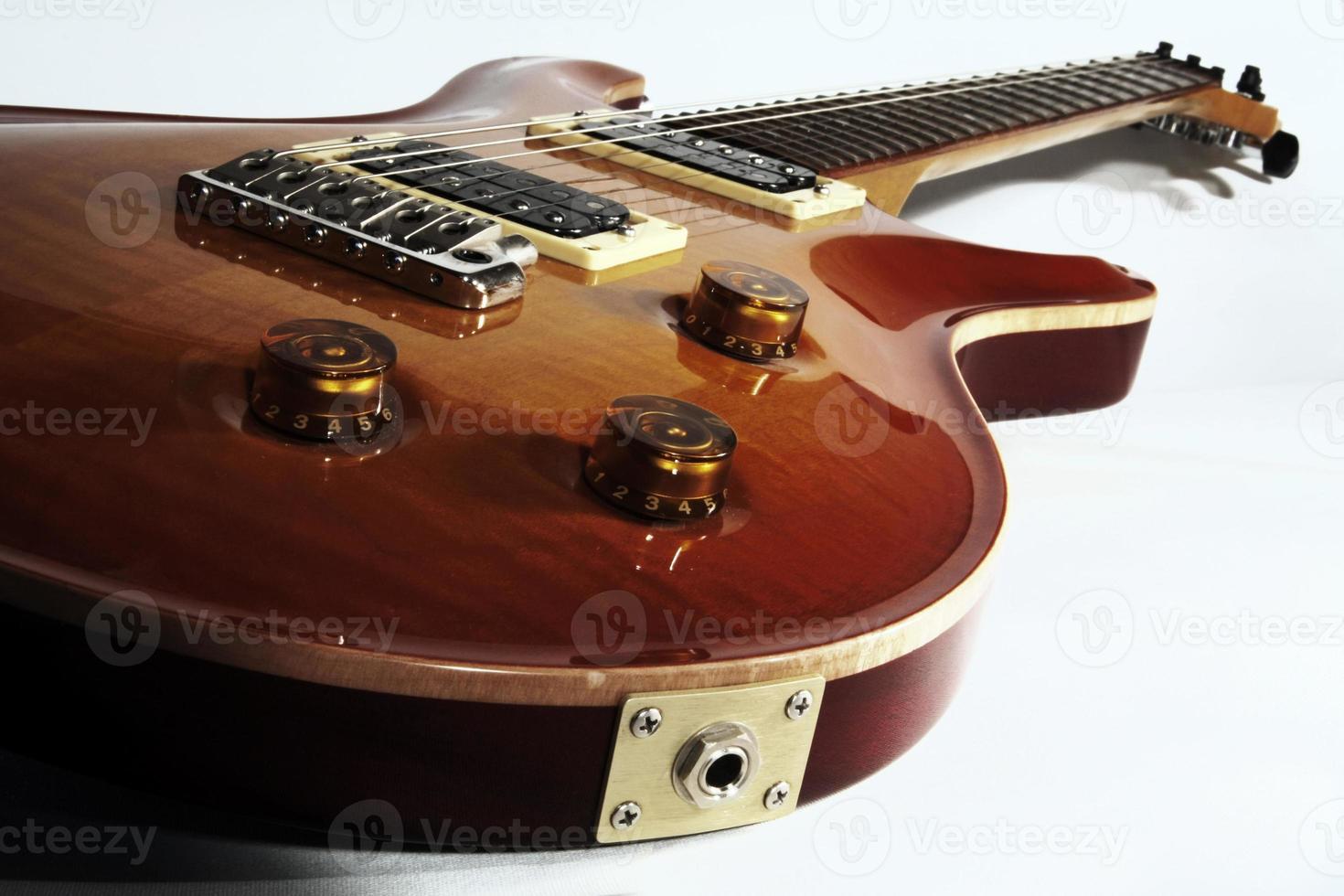 elektrisk gitarr på nära håll foto