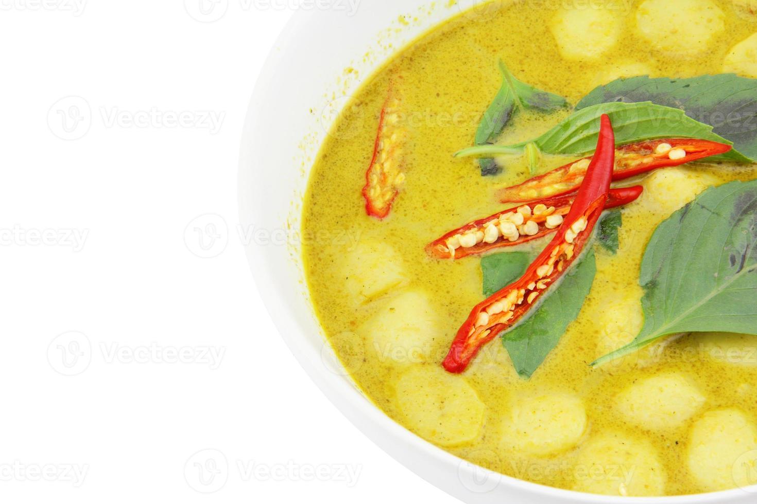 närbild grön curry foto