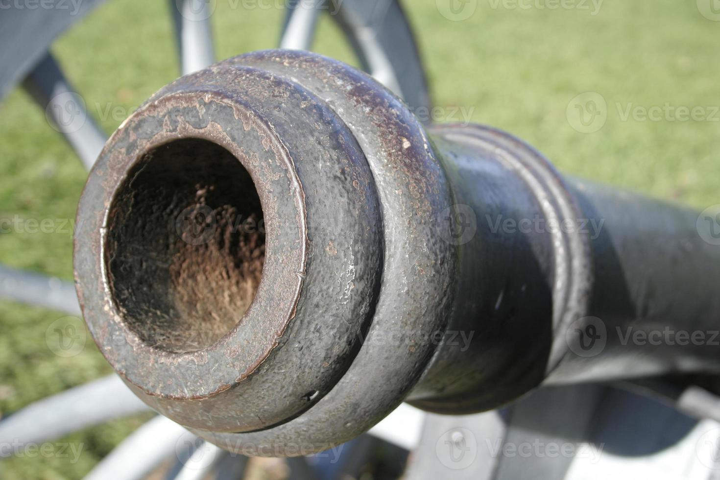 närbild historisk kanon foto