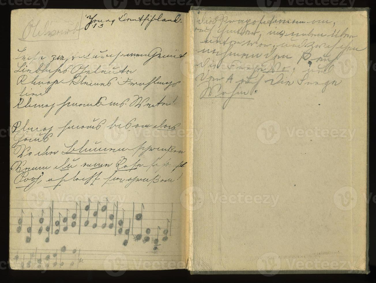 bok - tyska språket århundradet foto