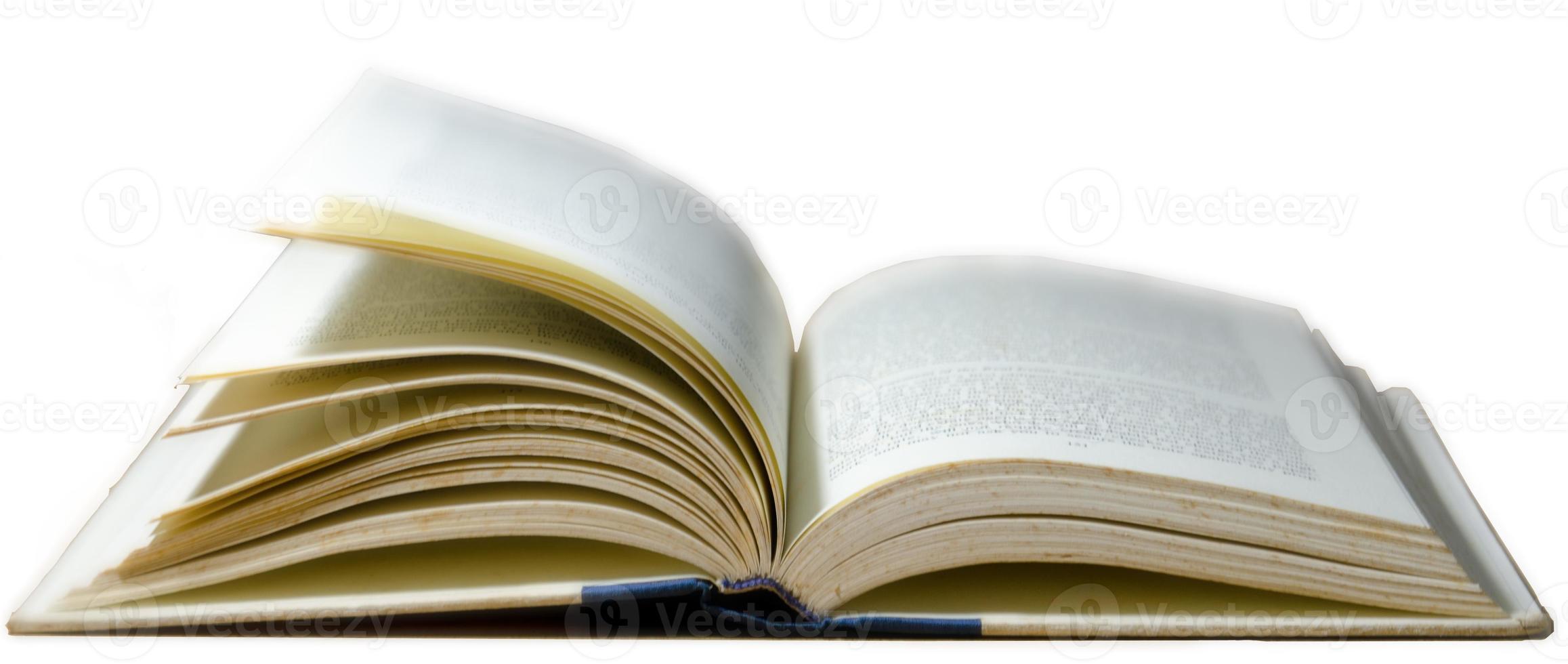 läser gammal bok foto