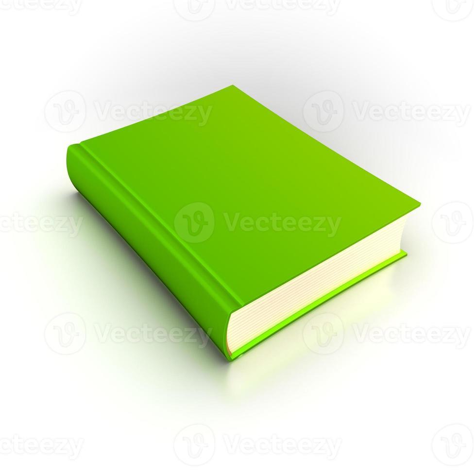 isolerad grön bok foto