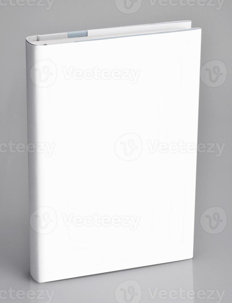 bok, tom bok med vitt omslag foto