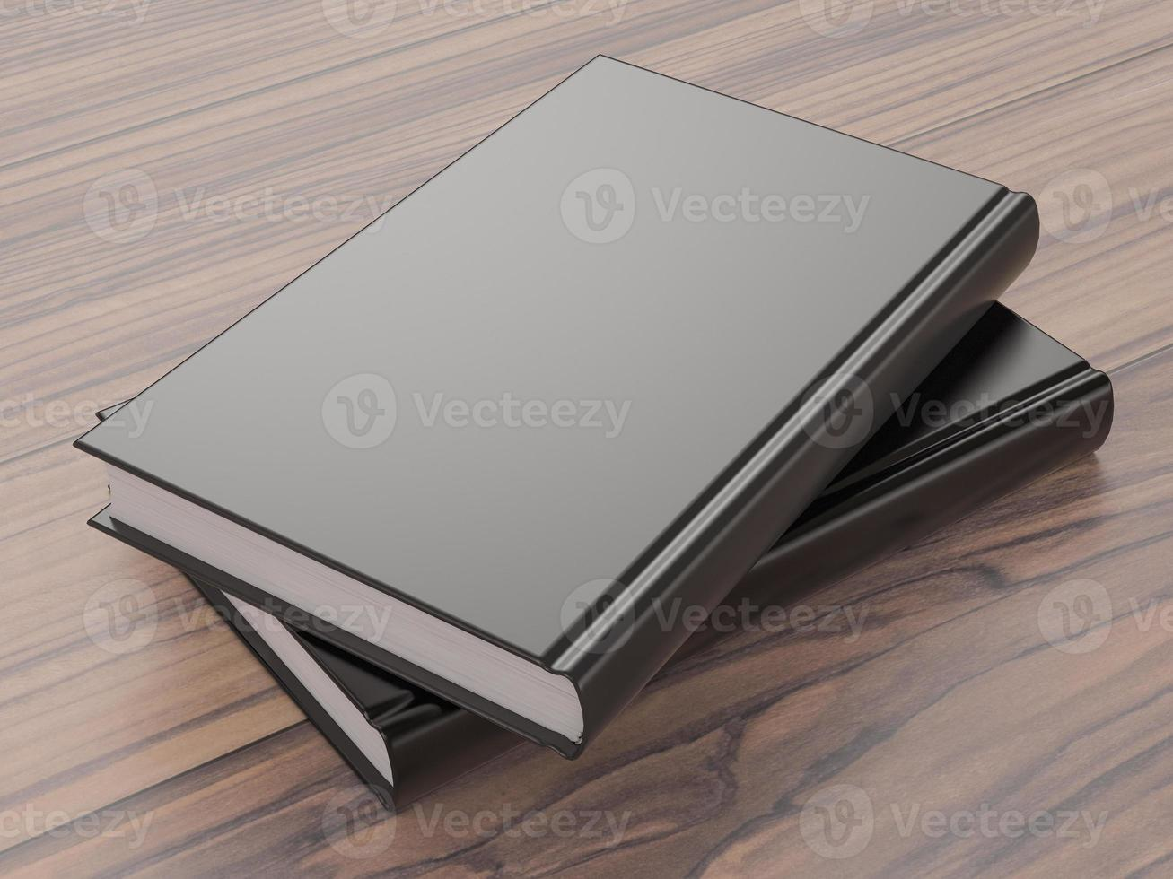 mockup av boken med ett svart omslag foto