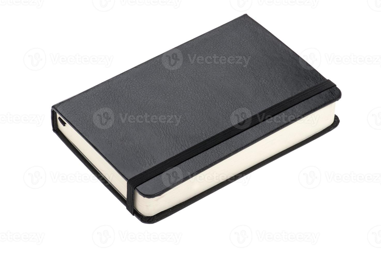 handbok på vitt foto