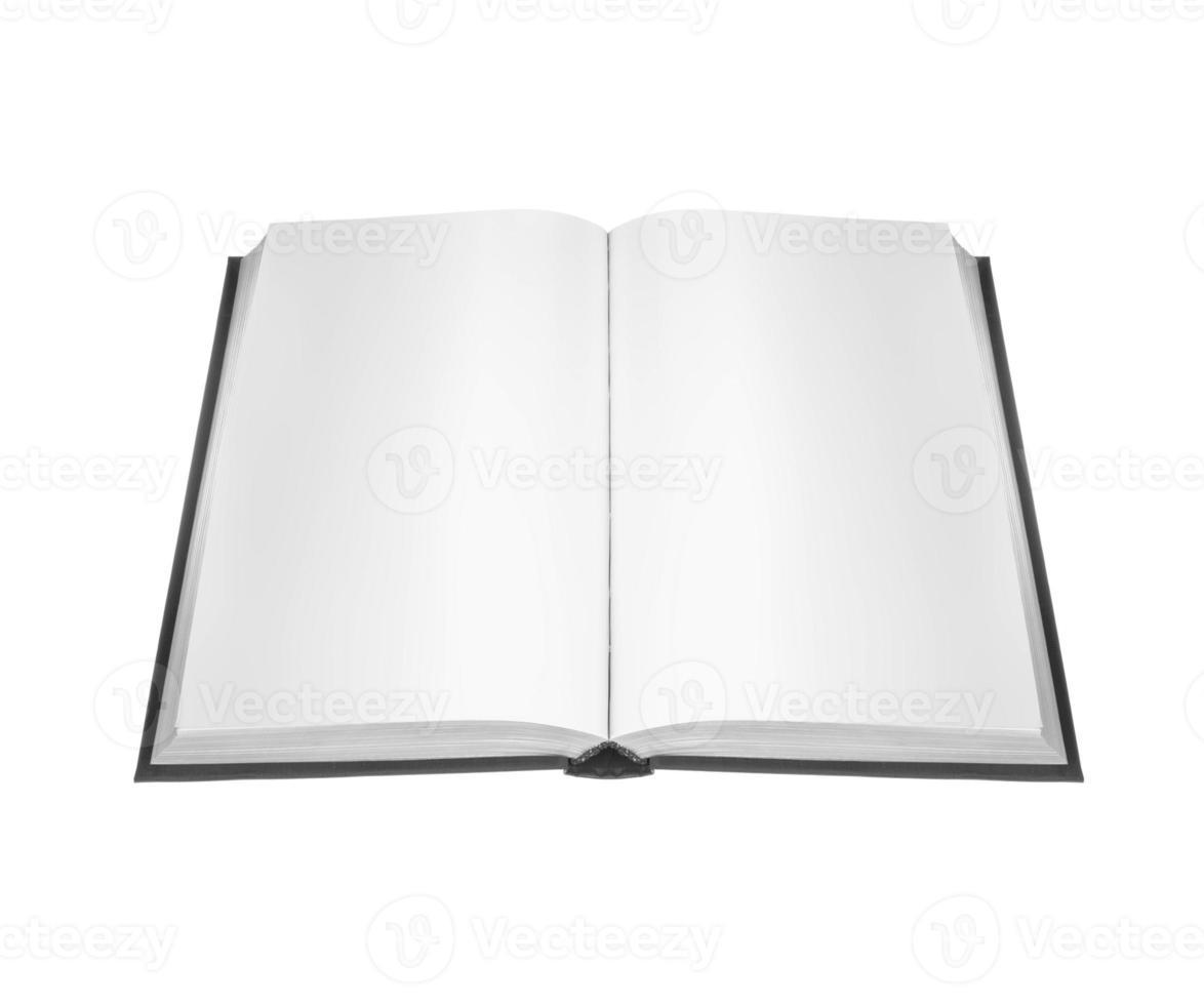 öppen bok med tomma sidor foto