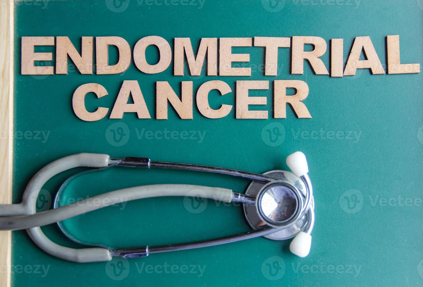 retrostilad endometrial cancer skriven med alfabet foto