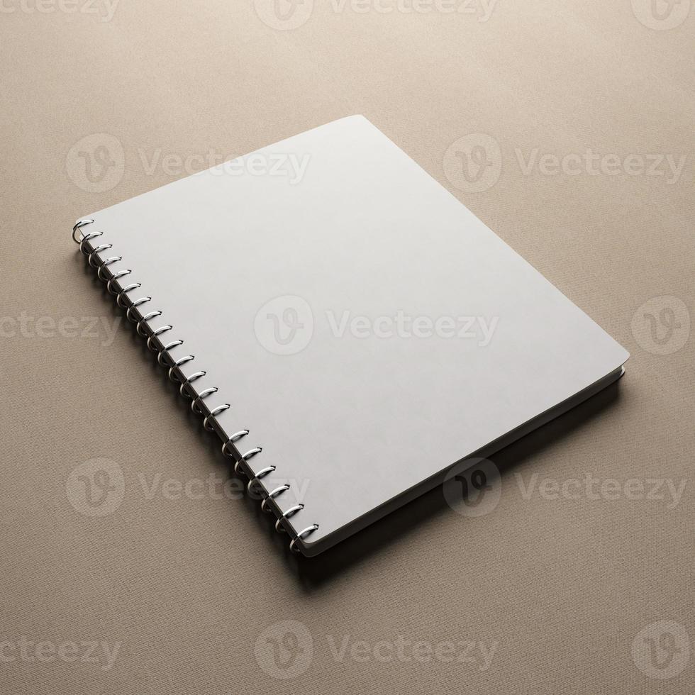 vit anteckningsbok med tomt omslag foto