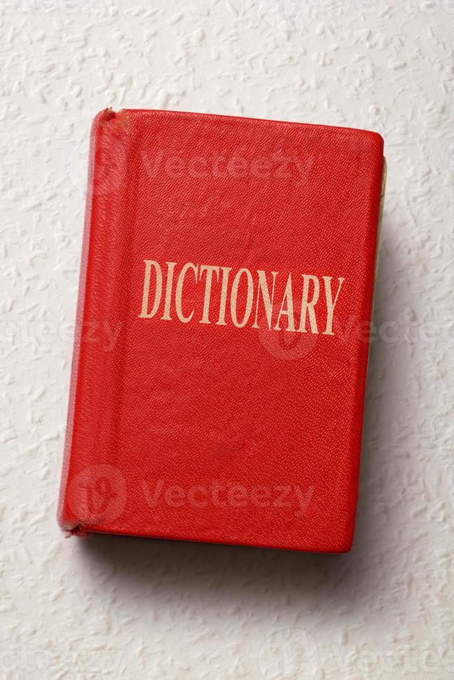 gammal ordbok foto