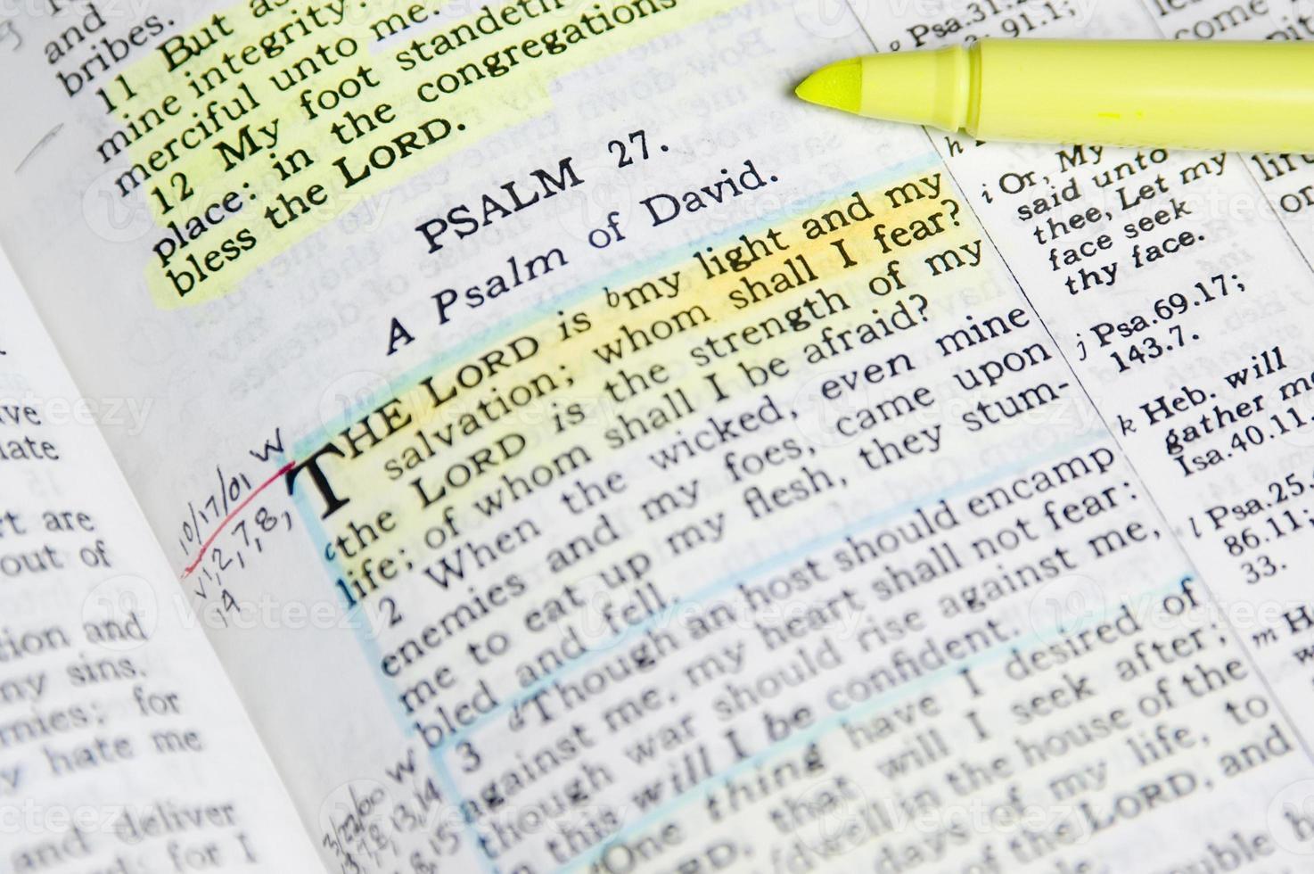 studera Bibeln foto