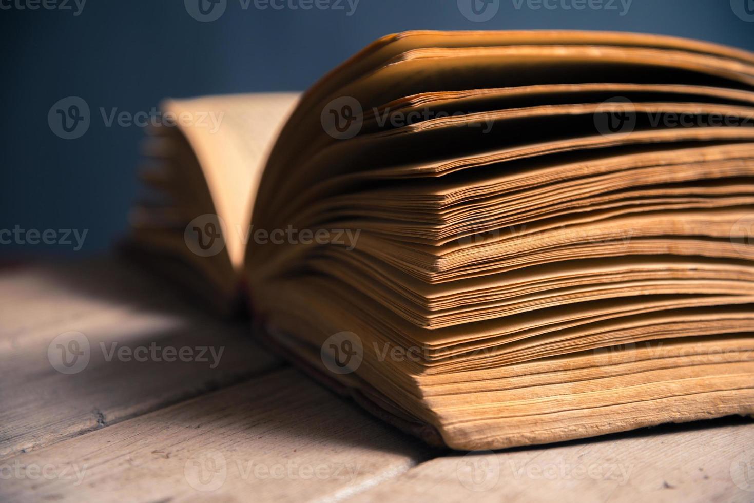 närbild av boksidor foto