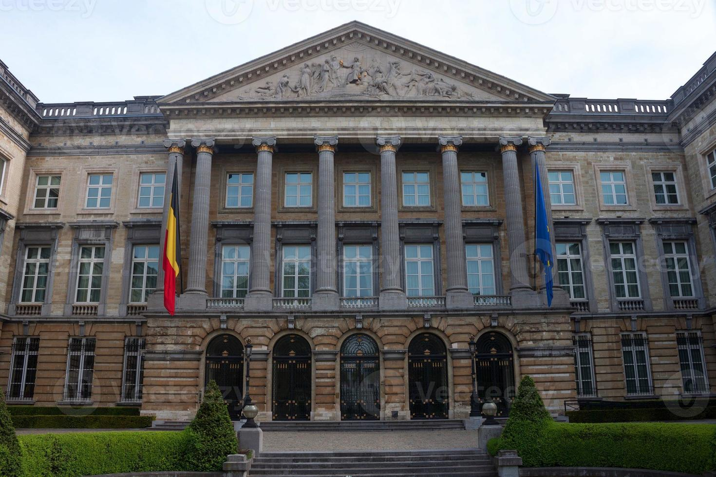 byggande av det belgiska federala parlamentet foto