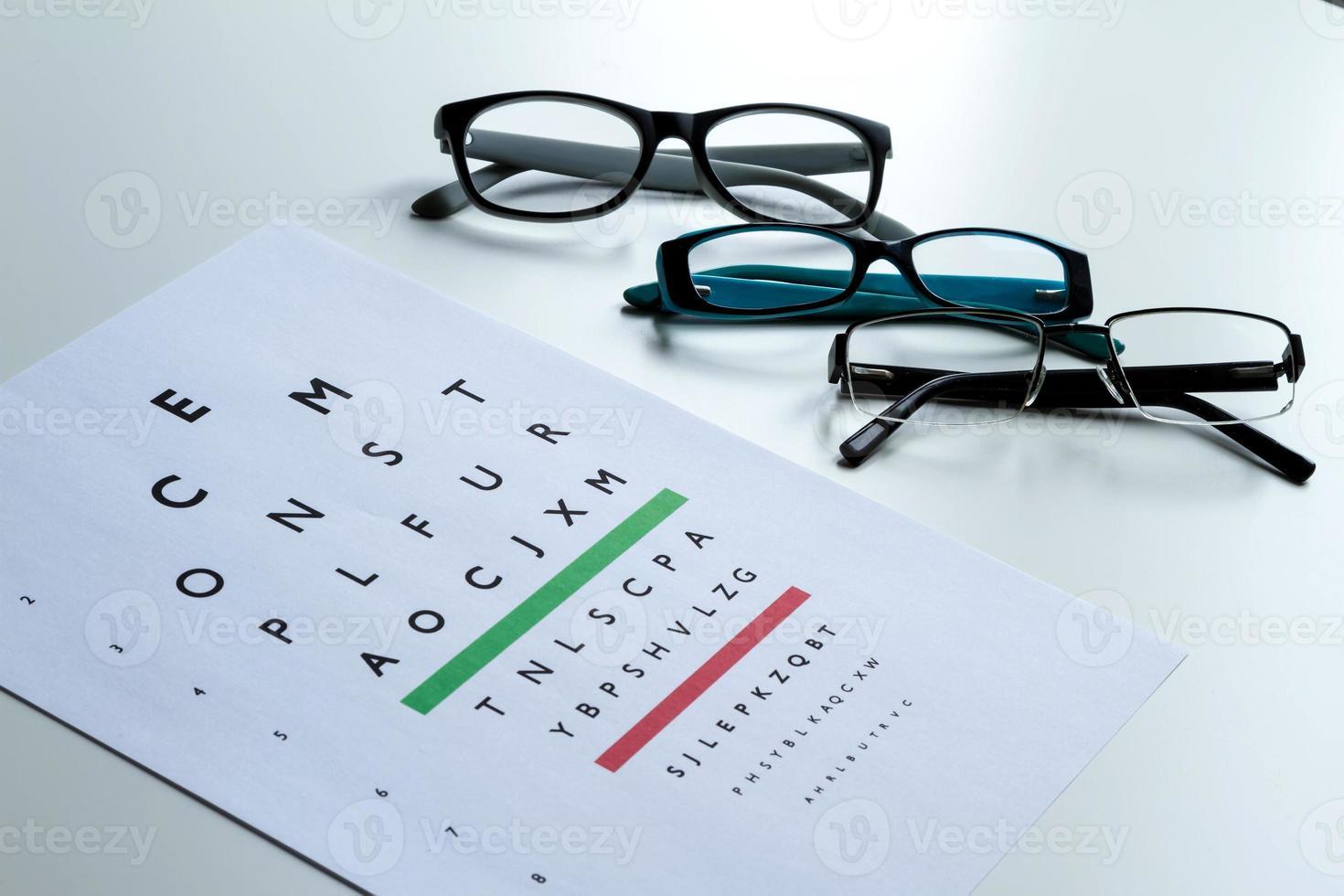 ögon test foto