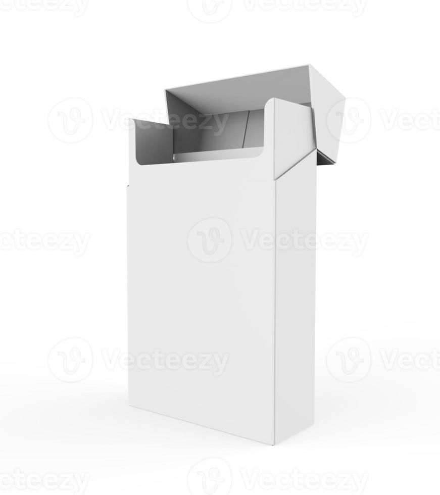 tomt paket cigaretter foto