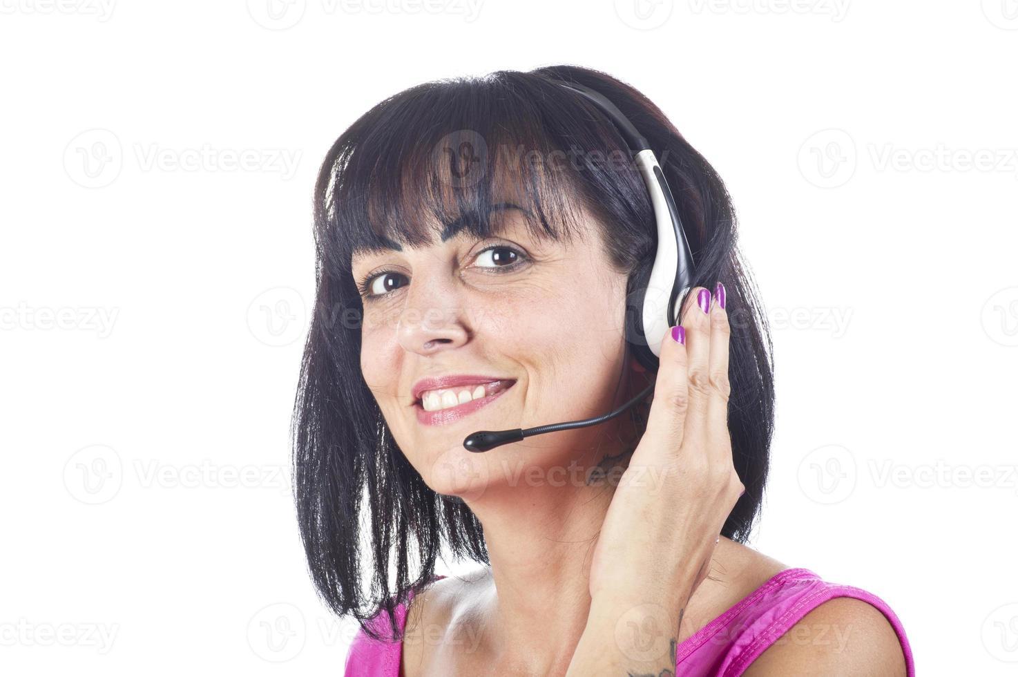 kvinna support telefonoperatör foto