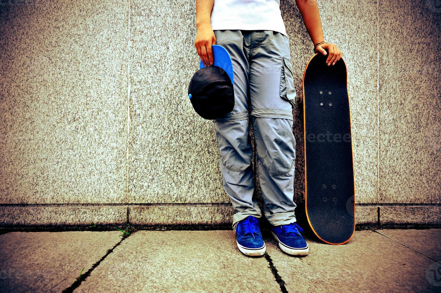 skateboardhoppning foto