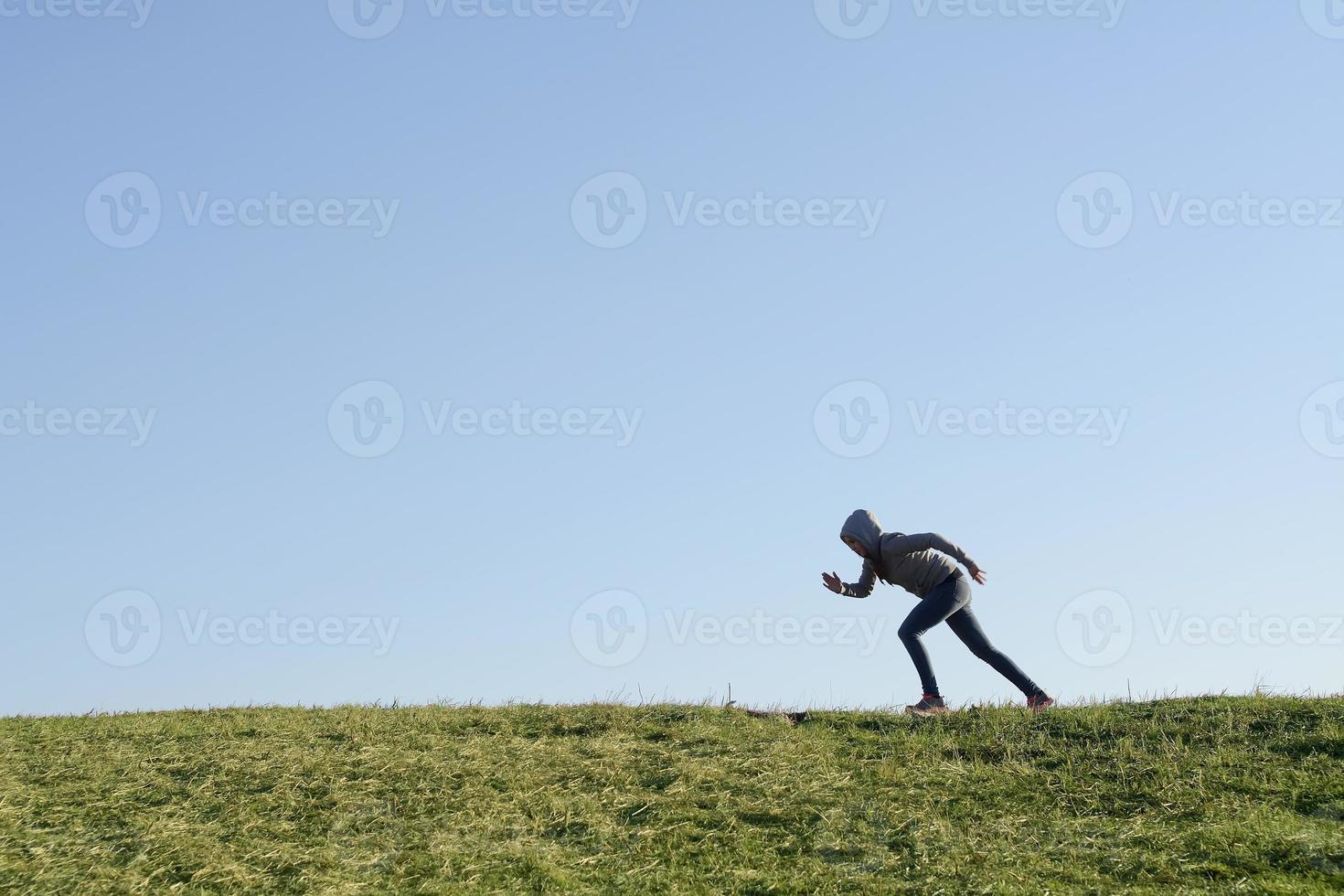 tonåring jogging foto