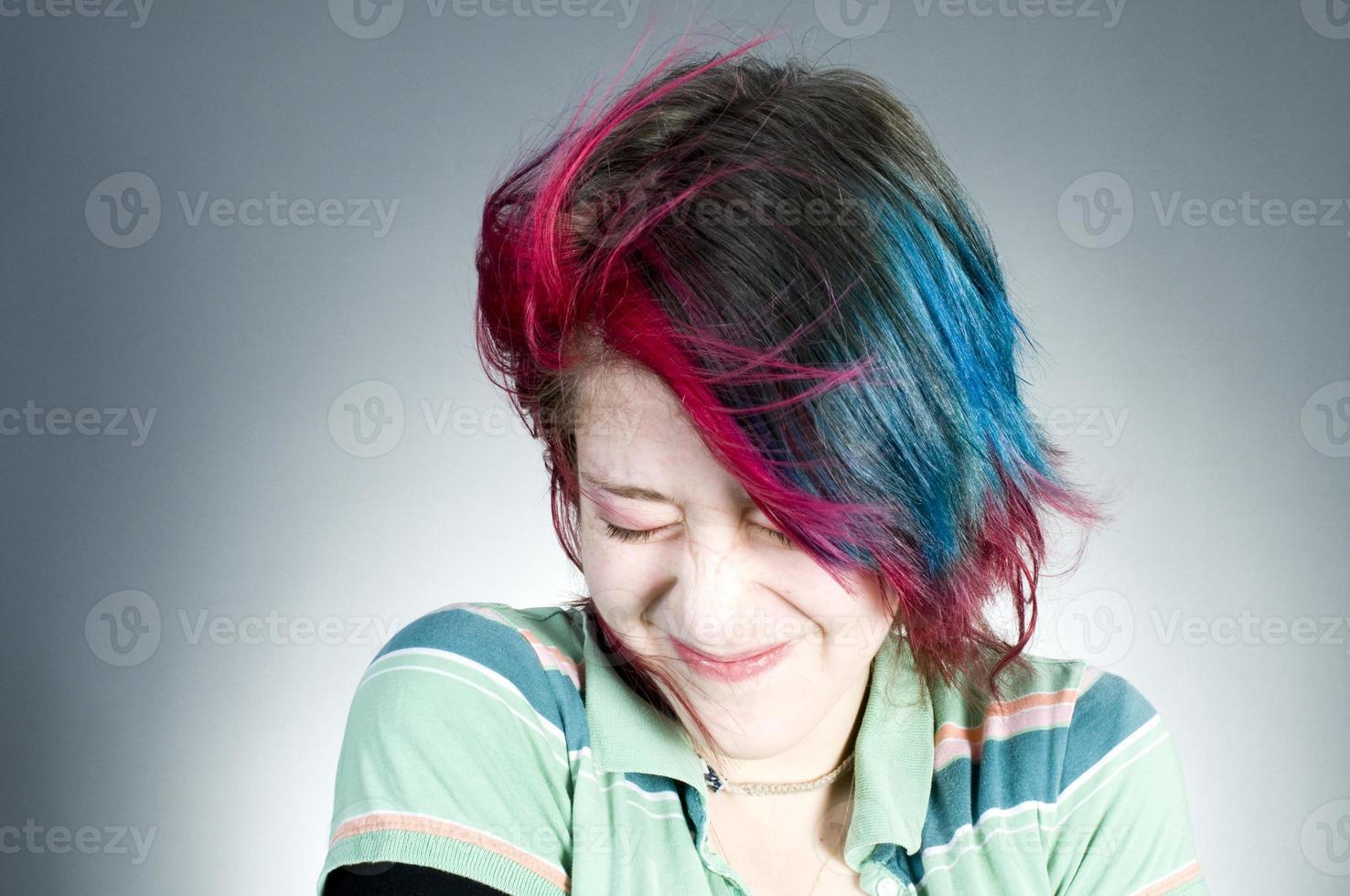 blyg tonåring foto