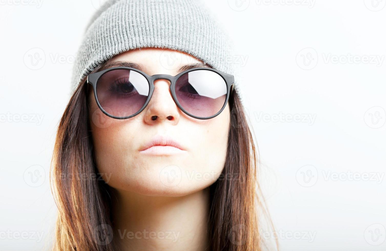 porträtt av hipster tonårsflicka foto