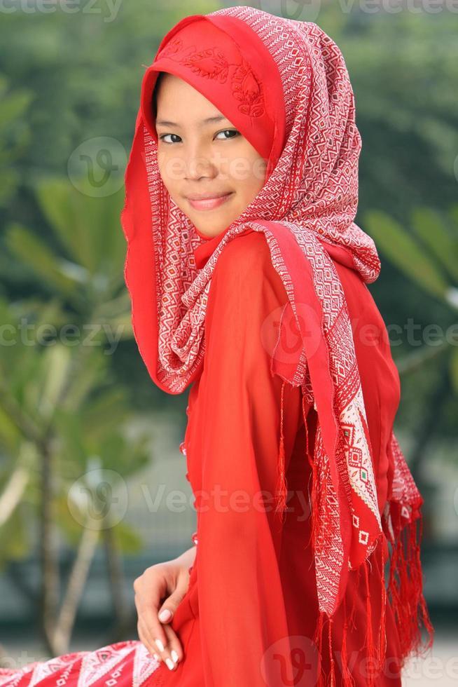 muslimsk tjej foto