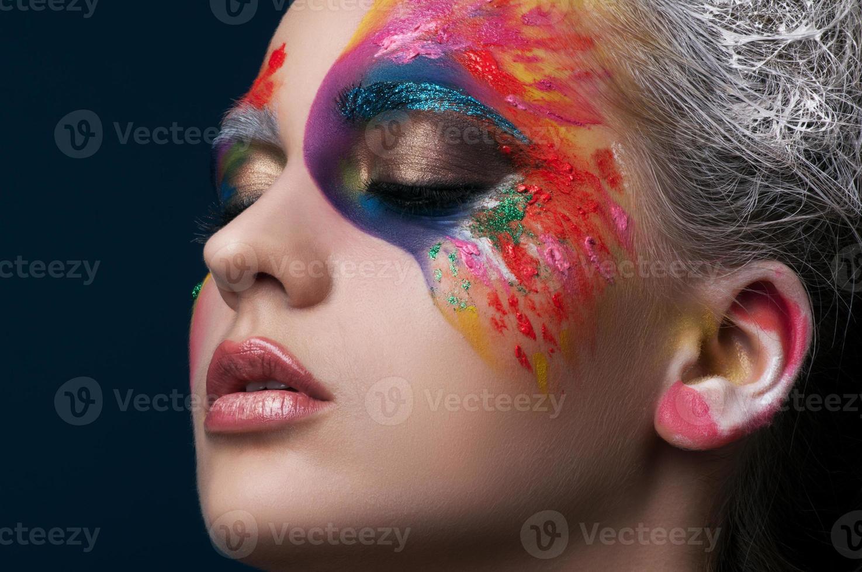 vacker makeup. foto