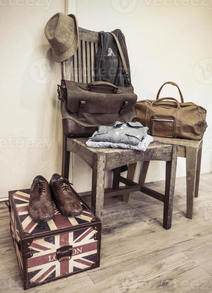 vintage manliga kläder och accessoarer foto
