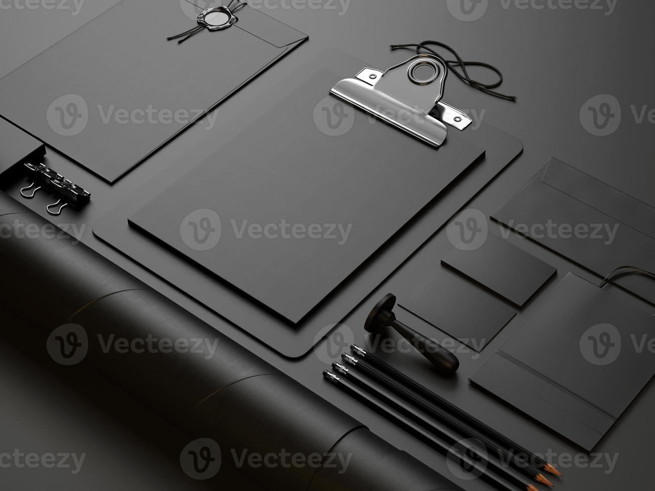 svarta element på svart bakgrund foto