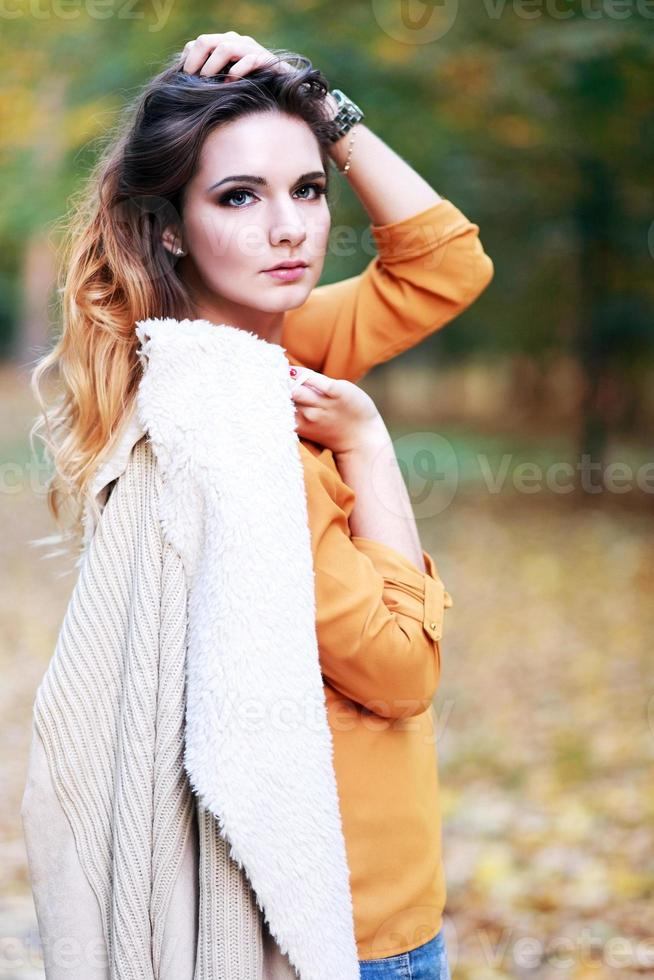 skönhet ung kvinna foto