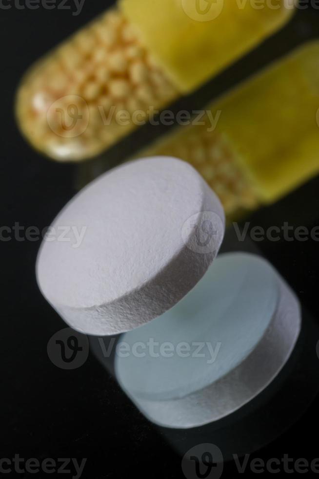 vanlig medicinering bakgrund foto