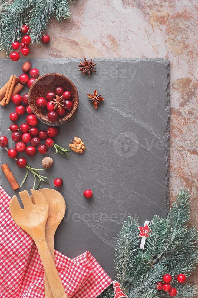 bakning med tranbär foto