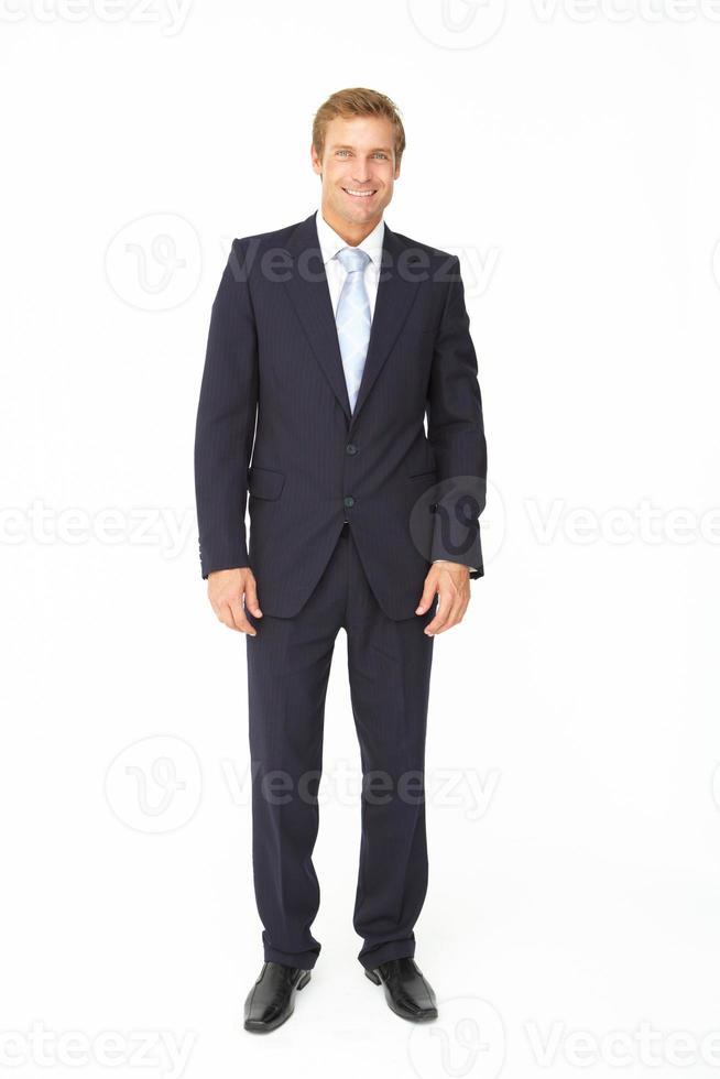 porträtt av affärsmannen i kostym foto
