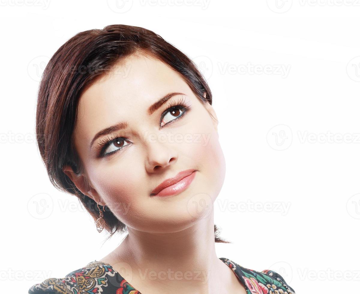 tankeväckande kvinna foto